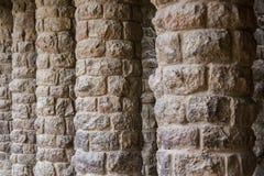 石专栏在公园Guell在巴塞罗那 库存图片