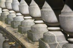 石专栏扶手栏杆石装饰 免版税图库摄影