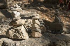 石人在Samaria在克利特海岛上狼吞虎咽 免版税图库摄影