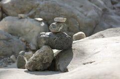 石人在Samaria在克利特海岛上狼吞虎咽 图库摄影