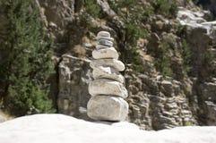 石人在Samaria在克利特海岛上狼吞虎咽 免版税库存图片