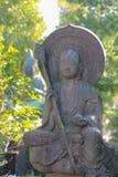 石修士雕塑在日本 库存图片