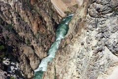 黄石公园大峡谷  免版税库存图片
