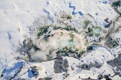 黄石公园庞然大物空中照片  免版税库存照片