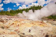 黄石公园 怀俄明 美国 喷泉 库存图片