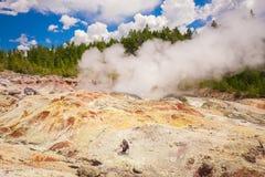 黄石公园 怀俄明 美国 喷泉 免版税库存照片
