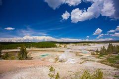 黄石公园 怀俄明 美国 喷泉 库存照片