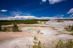 黄石公园 怀俄明 美国 喷泉 免版税图库摄影