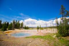 黄石公园 怀俄明 美国 喷泉 图库摄影