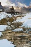 黄石冬天风景 免版税库存照片