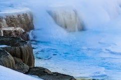 黄石冬天风景 库存照片