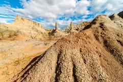 石列在沙漠 库存图片