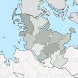 石勒苏益格-荷尔斯泰因州地图以邻居联邦政府 向量例证