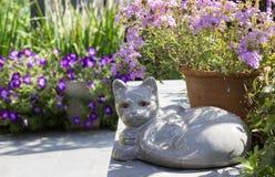 石化猫 免版税库存图片