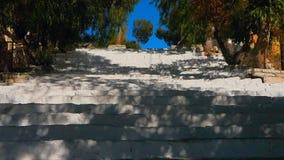 石台阶在城市 影视素材