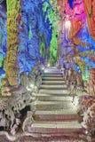 石台阶在芦笛岩在桂林,中国 免版税库存图片