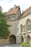 石和木构架的教堂 库存图片