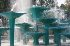 石喷泉在格丁尼亚,波兰 库存图片