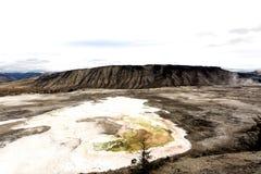 黄石喷泉水池 库存图片