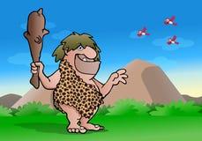 石器时代的穴居人 免版税库存照片