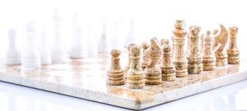 石国际象棋棋局我 免版税库存图片