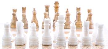 石国际象棋棋局IV 库存照片