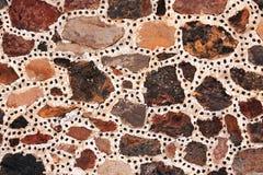 石块古老墙壁,特奥蒂瓦坎,墨西哥 免版税库存图片