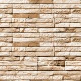石块墙壁无缝的照片纹理  免版税库存图片