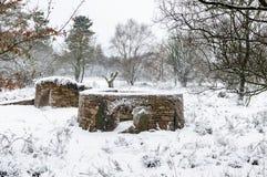 石块墙构造-动物庇护所-北约克郡- 库存图片