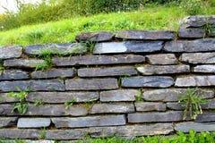 石块墙背景纹理 免版税库存照片