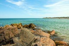 石块海岛罗德岛 库存图片