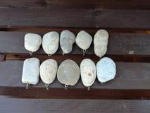 石坠子钓具调色板装饰品 库存照片