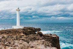 石垣市海岛Hirakubosaki灯塔在冲绳岛 库存图片