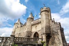 石城堡在安特卫普 免版税库存照片