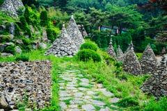 石塔在韩国 免版税库存图片