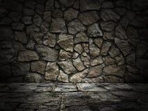 石墙和楼层 光线影响 免版税库存图片