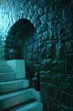 石墙和步骤 免版税图库摄影