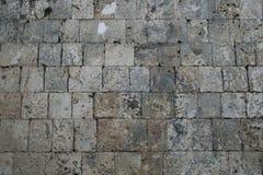 石墙在圣约瑟夫工作者大教堂, Tagbilaran,保和省,菲律宾 库存照片
