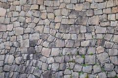 石墙在日本 库存照片