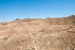 石墙在沙漠 免版税图库摄影