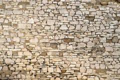 石墙在老镇培拉特,阿尔巴尼亚 库存图片