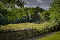 石墙在苏格兰高地 图库摄影