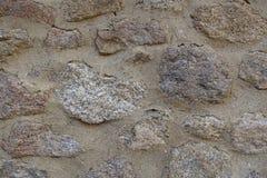 石墙石头背景的不同的类型和大小 免版税库存照片