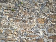 石墙石头背景的不同的类型和大小 免版税库存图片