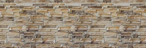 石墙砖纹理 无缝的模式 砂岩门面的背景 库存照片