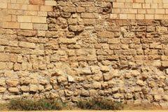 石墙纹理凯瑟里雅Maritima国家公园 库存图片