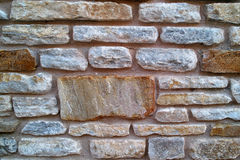 石墙纹理照片背景 免版税库存照片