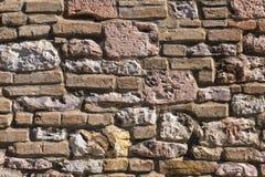 石墙纹理背景 免版税库存图片