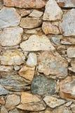 石墙背景。 库存照片