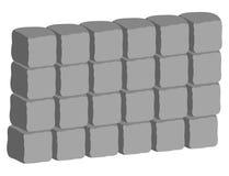 石墙背景传染媒介标志象设计 向量例证